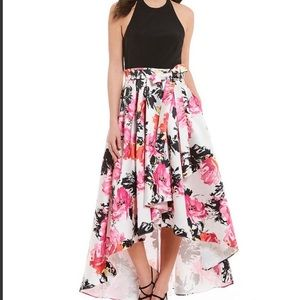 Dresses & Skirts - Leslie Fay Floral High Low Formal Dress W/Pockets